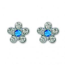 Серьги Inverness 119 Flower Crystal