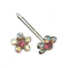Серьги Inverness 120 Flower Crystal/Rosa